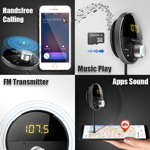Image 3 - Deelife Bluetooth AUX מתאם במכונית דיבורית ערכת BT 5.0 אודיו מקלט עבור אוטומטי טלפון ידיים משלוח Carkit FM משדר