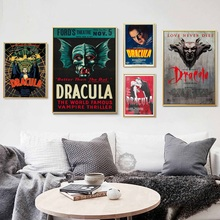 Top-Rated Canvas Print Classic Horror Modern Decorative Movie Dracula Hot Art Painting Silk Poster Wall Home Decor