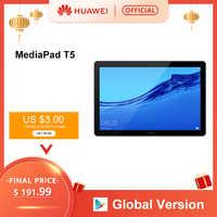 Versão global huawei mediapad t5 3 gb 32 gb tablet pc 10.1 polegada octa núcleo duplo alto-falante 5100 mah suporte cartão microsd android 8.0