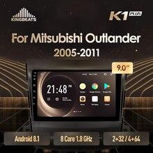 KingBeats штатное головное устройство for Mitsubishi Outlander 2 CW0W 2005-2011 GPS Android 8.1 автомагнитола на андроид магнитола для Мицубиси Аутлендер 2 CW0W автомобильная мультимедиа Octa Core 8 core*1.8G DDR4