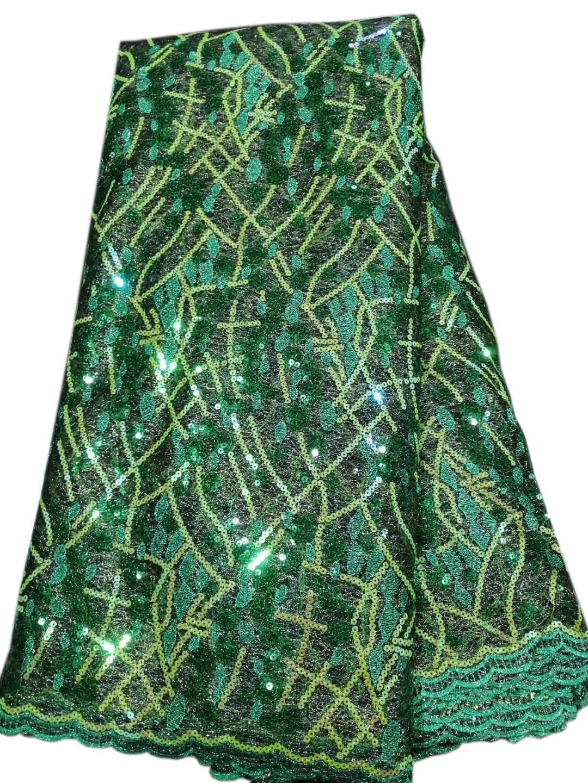 high quality green applique lace fabric emerald nigerian fabrics  DYSZP12
