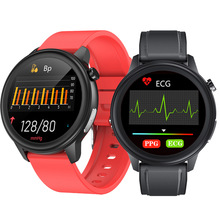 Ecg Smart Watch For Women Men Smartwatch Android Ios Ip68 Watches E80 Temp Oxy Blood Pressure Monitor Sports Fitness Smart Clock
