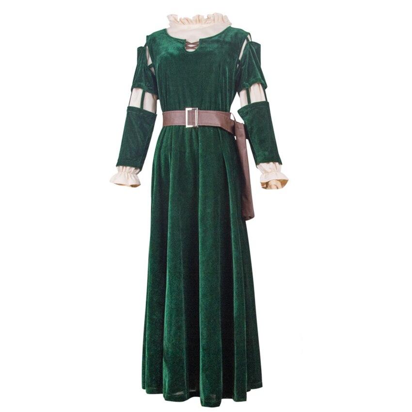 Animation légende courageuse princesse Melinda robes scène personnage Costume d'acteur femme adulte Halloween Cosplay Costume vêtements