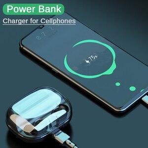 Image 3 - F10 TWS Bluetooth 5.0 kablosuz kulaklık dokunmatik kontrol kulakiçi IPX7 su geçirmez 9D Stereo müzik kulaklık 1200mAh güç bankası
