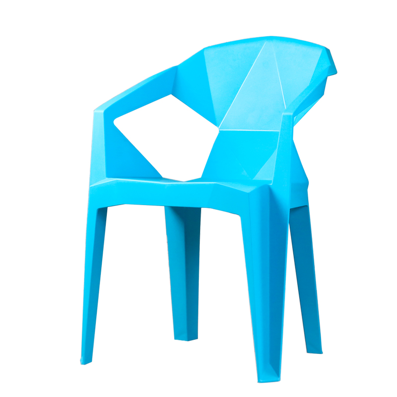 Simple Household Plastic Backrest Chair Armchair Thickening Stalls Dining Chair Leisure Beach Chair Snack Dinette