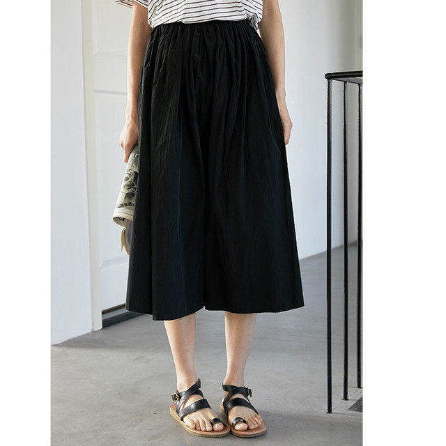 2020control The Crushed Degree Of Tightness Waist Pleated Skirt Long Fund Half-body Will Pendulum Favourite Fashion Chiffon 2