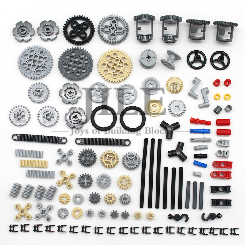 Moc Technic Parts Bulk Gear Cross Axle Pin Conector Wheels Chain Link Car Compatible With Mindstorms Building Bricks Blocks Toys