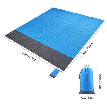 2*2M Portable Picnic Mat Waterproof Beach mat Pocket blanket Outdoor Camping Tent Ground Mat Mattress Outdoor Camping Picnic Mat 2