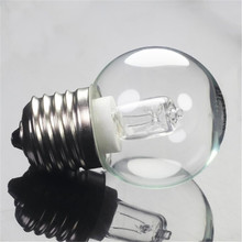 Vintage E27 G45 42W bombilla de horno AC110-250V de alta temperatura 300 lámpara de cristal de microondas blanco cálido para la decoración del hogar