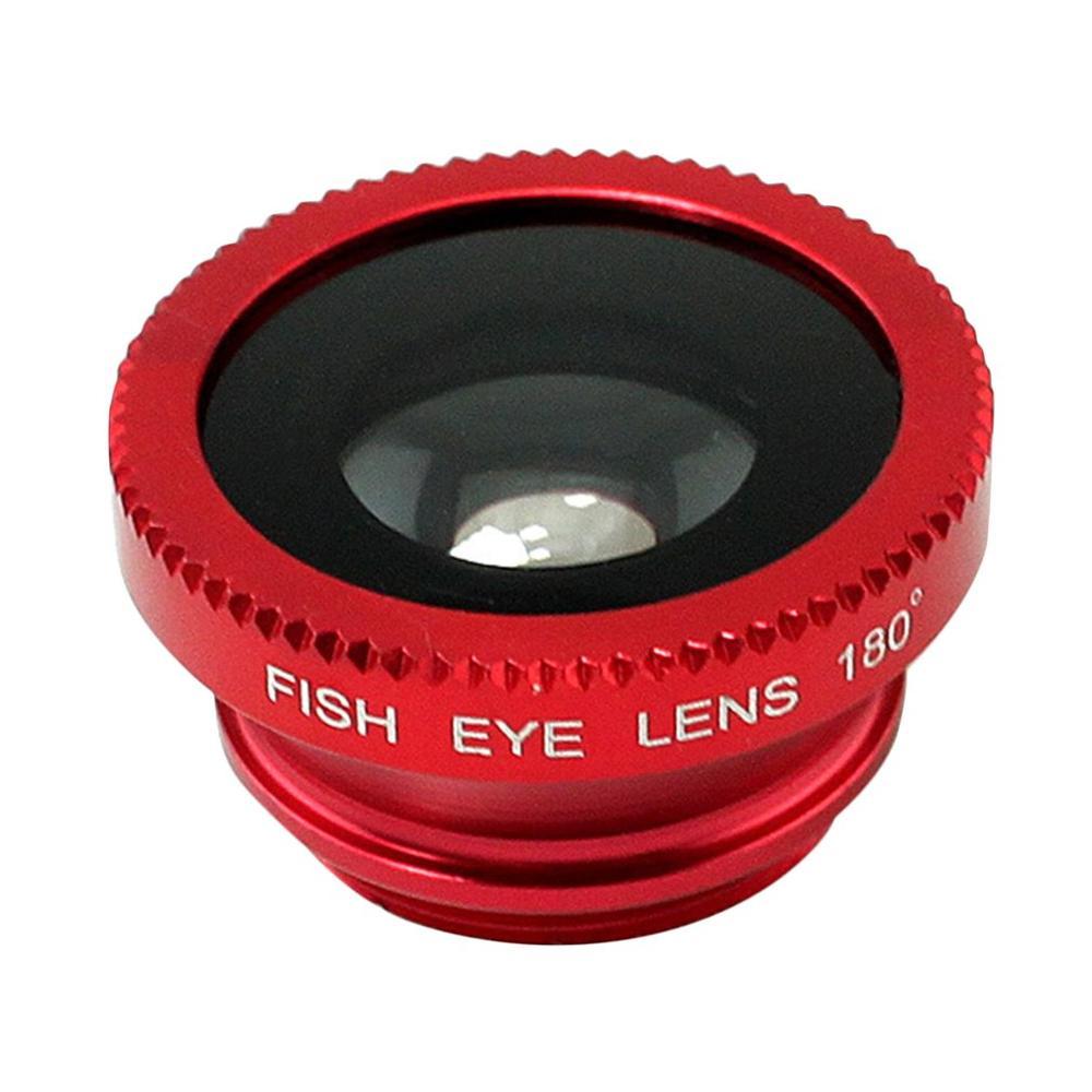 3 в 1 Многофункциональный телефон комплект объектива Рыбий линзы+ макросъемочные линзы+ Широкий формат объектив превратить телефон в профессиональный Камера - Цвет: red