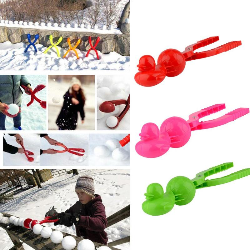 Creative 3D Duck Soccer Snowball Maker Clip Exercise Hands-on Ability Added Interest Kids Winter Outdoor Snow Mold Toys