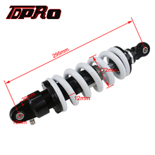 TDPRO 1200lbs 295mm Rear Shock Absorber Motorcycle Shocker Suspension Spring Fit Honda Kawasaki Quad ATV Scooter Pit Dirt Bike tdpro 285mm 11shock absorber rear suspension for motorcycle pit dirt pocket bike atv quad buggy