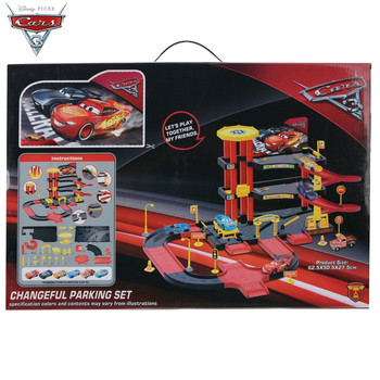 Brand New In Stock Original Box Disney Pixar Cars 3 Lightning McQueen Large Parking Lot Assembled Toy For Boys Christmas Gift brand new in original box philips gc5033 80 azur elite steam iron with optimaltemp technology original brand new