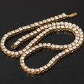 Хип-хоп один слой цепи ожерелье со стразами ювелирные изделия подарок один ряд ювелирных изделий ожерелье кулон для вечерние