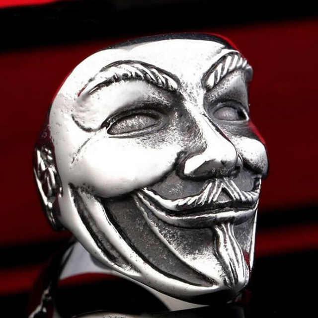Libre de punk retro gótico anillos de Hombre de moda cráneo Dragón, Lobo anillos masculinos joyería Halloween accesorios Anillo Hombre Bijoux