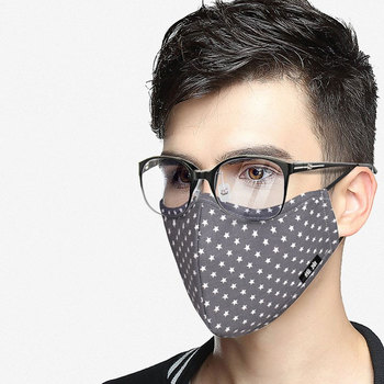 1pc mouth mask light in the dark anti dust keep warm cool unisex mask black noctilucent cotton face mask l35 Pm2.5 Cotton Mouth Face Mask Anti-Dust Glasses Mask Respirator with Activated Carbon Filter Fabric Black Face Mask