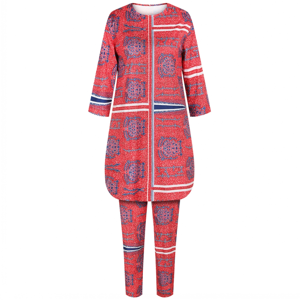 African Dress For Women Long Top Pants Suit Leggings Trousers Ankara Robes Africaine Sexy Ladies Dashiki Chandal Mujer Sets