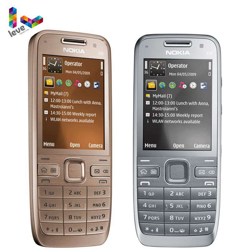 Nokia E52 GSM Smartphones WIFI Bluetooth GPS 3.2MP Support Russian&Arabic Keyboard Original Unlocked Mobile Phone