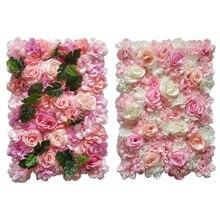 Artificial Flower Wall Panels 16 x 24 Mat Silk Rose for Backdrop Wedding Decoration