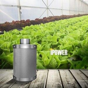 Filtro de carbono hidroponia filtro de carvão ativado carvão vegetal planta interior filtro de escape de ar algodão purificador de ar peças