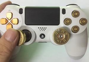 Image 5 - Para Sony Playstation Dualshock 4 Slim Pro Controller Gold Dpad + barras de pulgar analógicas de latón + botones de bala de 9mm Kit Mod para PS4
