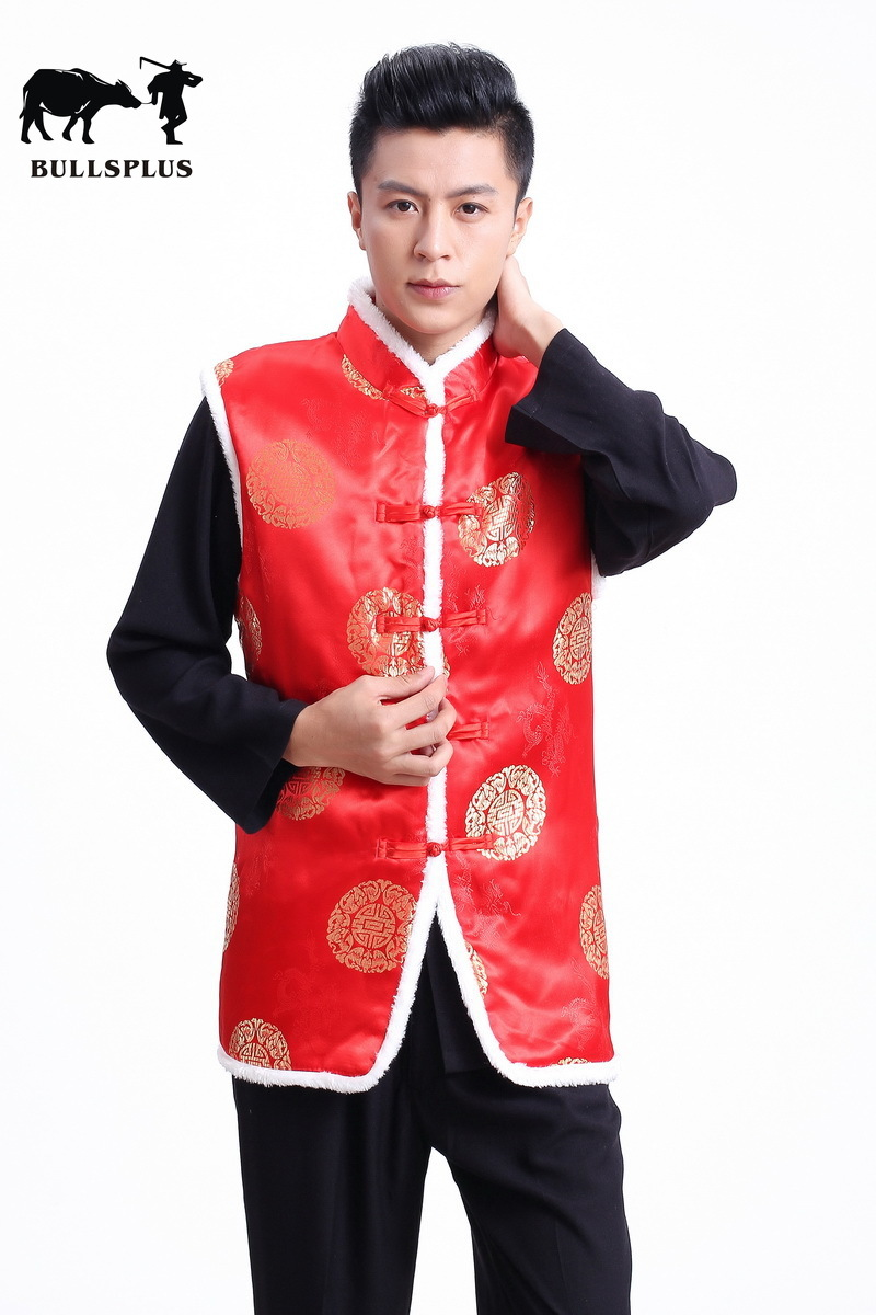 Chinese New Year Tang Suit Chinese Red Chinese Top Cheongsam Top Traditional Chinese Clothing For Men