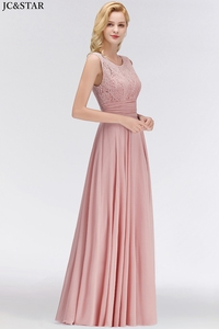 Image 4 - Vestido madrinha new lace chiffon Scoop ALine turquoise bridesmaid dress long vestidos invitada boda mujer cheap robe de mariee