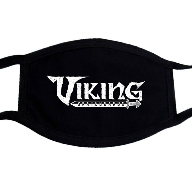 Winter Dustproof Mouth Face Mask Kpop Dust Mask Game of Thrones And Viking Masks Black Keep Warm Washable Mask 5