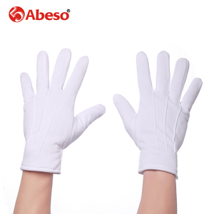 Image 3 - Abeso 10 Pair Plus Cashmere thick elastic Large white gloves White color Etiquette gloves driving gloves A1008