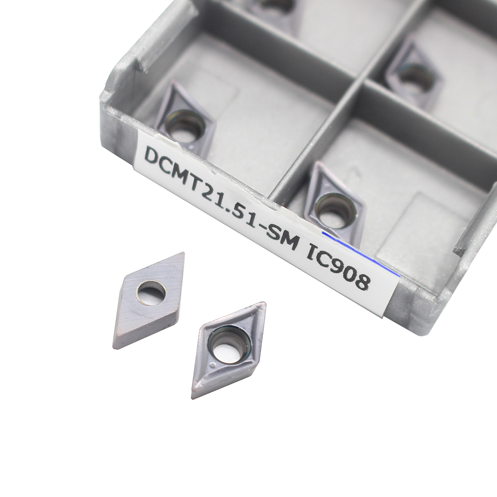 DCMT070204 SM IC908 Internal Turning Tool DCMT 070204 Carbide Insert Lathe Cutter Tool Turning Insert Cutting Tools CNC Tokarnyy