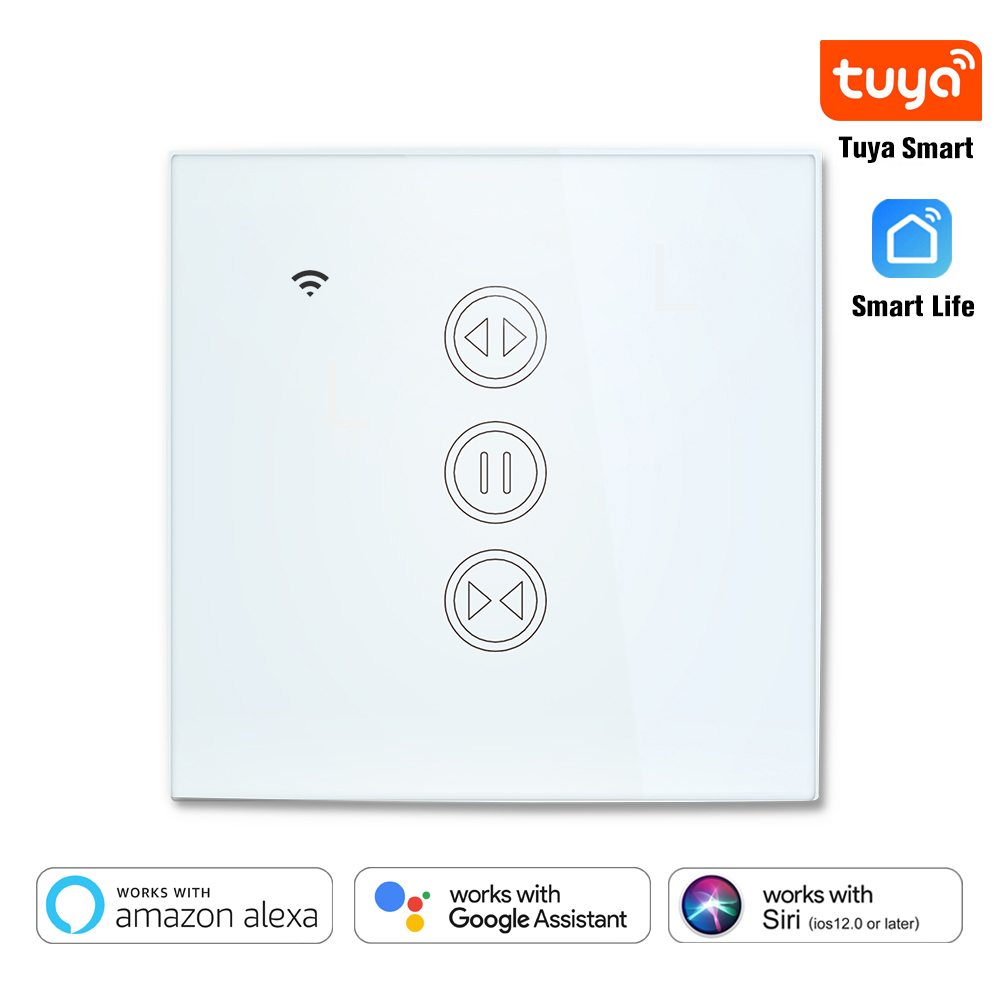 WiFi Curtain Blind Switch For Roller Shutter Electric Motor Tuya Smart Life Google Home Alexa Siri Voice Control