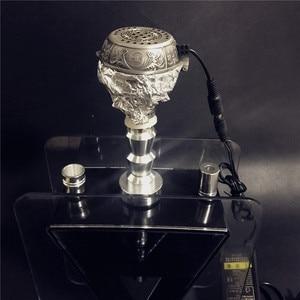 Image 5 - ערבי כסף מתכת נרגילה נרגילות מיוחד פחם חשמלי תנור מחזיק פחמן תנור Chicha קערת נרגילות צינורות אבזרים