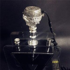 Image 5 - Arabischen Silber Metall Shisha Shisha Spezielle Holzkohle Elektrische Ofen Halter Carbon Herd Chicha Schüssel Shisha Rohre Zubehör