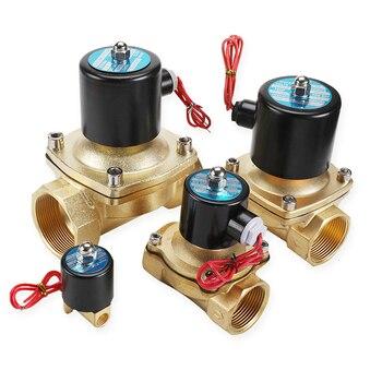 цена на 1/4 3/8 1/2 3/4 1  Electric Solenoid Valve DN08 DN10 DN15 DN20 DN25 N/C Pneumatic Valve for Water Oil Air 12V/24V/110V/220V