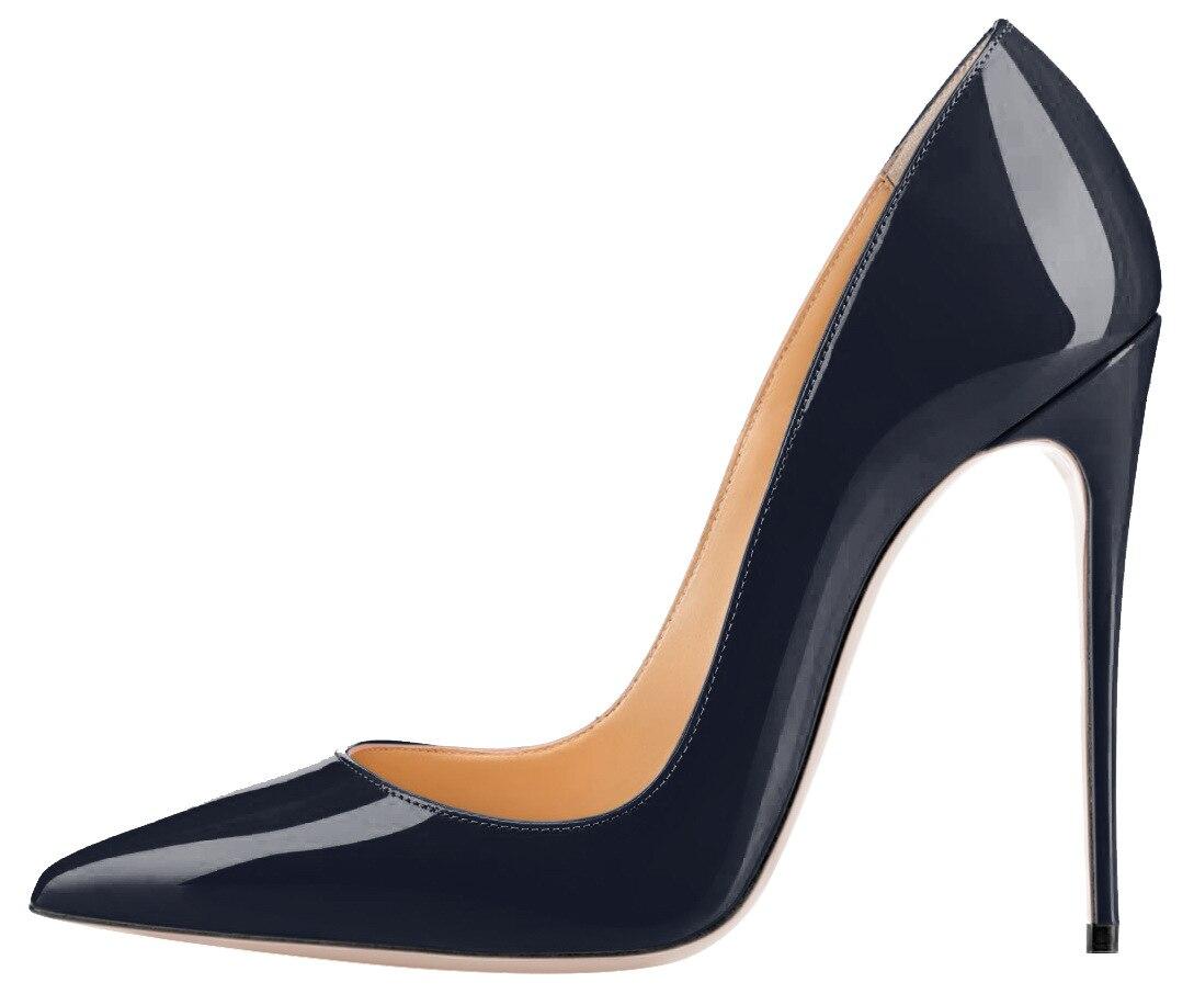 Customize Red Bottom Shoes Women Sexy Pumps Stilettos big size Patent Leather Ladies High Heels Pump Spring Autumn Shoe Wedding