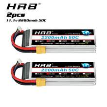 Литий-полимерный аккумулятор HRB 3S 11,1 В 2200 мАч 50C для радиоуправляемого автомобиля с разъемом Deans XT60, 2 шт.