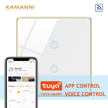Kamanni WiFi Touch Light Switch Google Home Control 2 Gang 1 Way Black/Golden/White/Grey 4 Colors Optional 1/2/3 Gang 1 Way 220v ifree fc 368m 3 channel digital control switch white grey