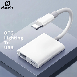 Hacrin OTG Adapter for Lightning to USB 3 Camera Keyboard OTG Cable Data Converter for iPhone iPad for Apple ios 13 OTG Adapter