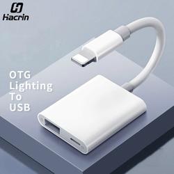 Hacrin otg 어댑터 번개 usb 3 카메라 키보드 otg 케이블 데이터 변환기 아이폰 ipad 애플 ios 13 otg 어댑터