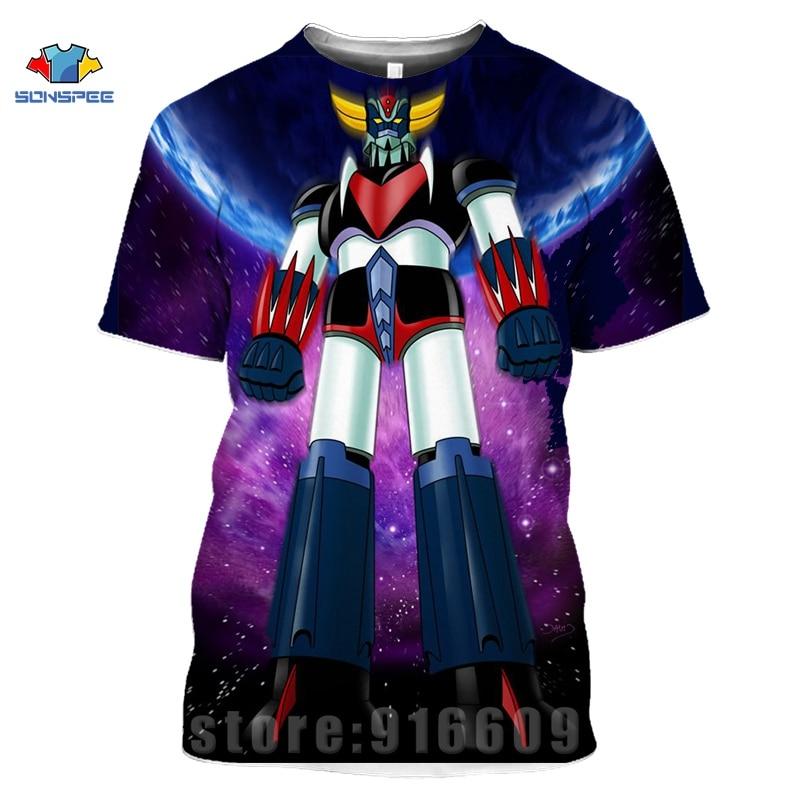 Mazinger Z T shirt Men Japan Robot Anime 3D Print Men's T-Shirt Women Summer Goldorak Tshirt Harajuku Streetwear Fitness Shirts