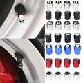 4 шт. алюминиевые колпачки для стержней клапанов автомобильных шин для Audi A1 A3 A4 B5 B6 B7 A5 C5 A6 A7 A8 A1 Q2 Q3 Q5 Q7 автомобильные аксессуары