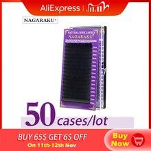 Nagaraku Wimpers Maquiagem Mink Wimpers 50 Gevallen/Lot 16 Rijen Individuele Wimper Premium Mink Wimpers Maquillaje Cilios