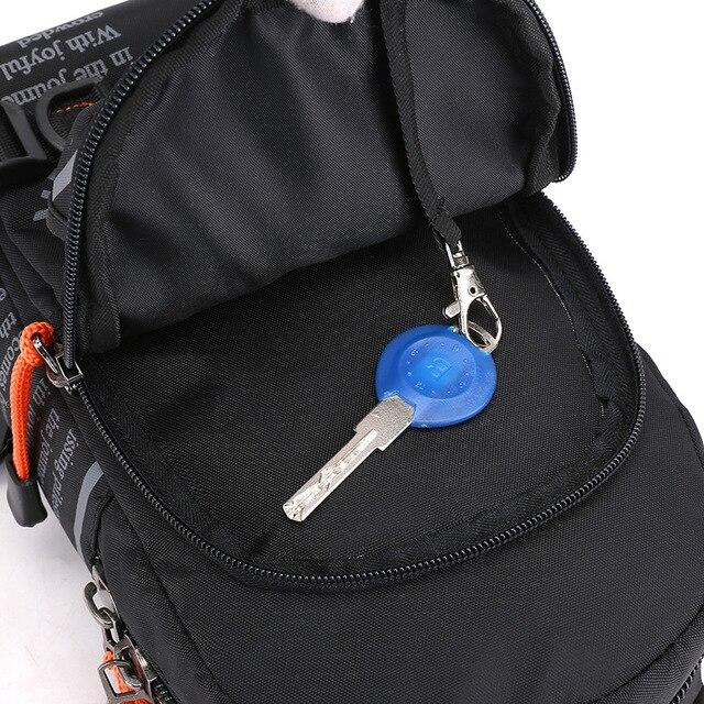 Nowy Trend dzikiego mężczyzny na co dzień poliestrowy pakiet piersi na zewnątrz wielofunkcyjny Messenger plecak torba na ramię ruchu