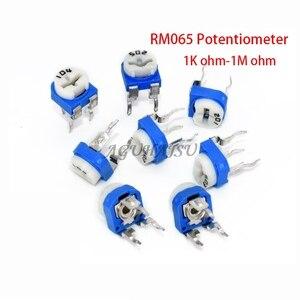 20 Pcs RM065 RM-065 100 200 500 1K 2K 5K 10K 20K 50K 100K 200K 500K 1M Ohm Trimpot Trimmer Potentiometer Variabele Weerstand