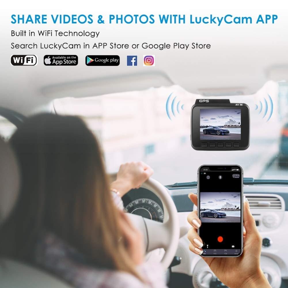 GS63H 4K grabadora de vídeo del coche GPS coche DVR Cámara Wifi Full cámara HD Dash coche Video vigilancia HDMI Auto cámara HD Cámara espejo - 5
