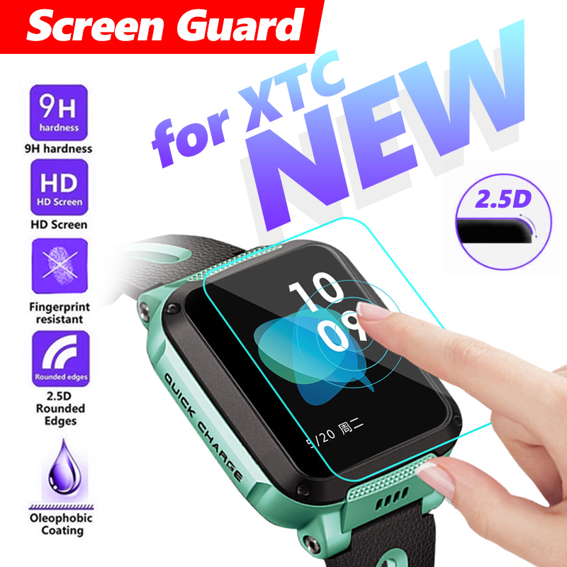 Premium Watch Screen Protector Kids watches For XTC Z3 Phone watch 9H fully fit Watch Protective Tempered Glass Screen Guard