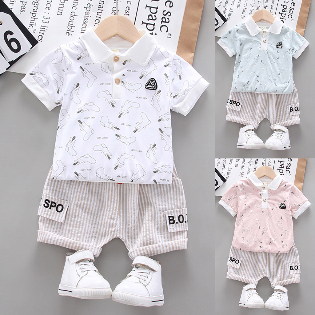 Newborn Baby Casual Clothing Set for Mothers Day Fathers Day Round Neck Short Sleeve White Romper Hat Outfits Set 3 Pieces 0-24 Months Floral Short
