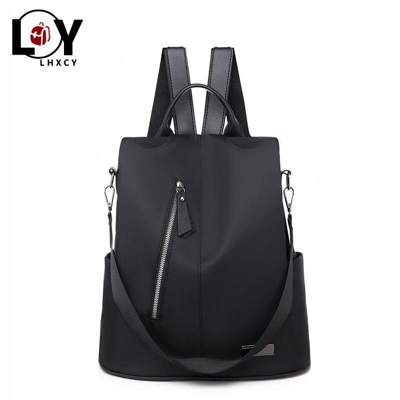 Womens Multi-function Purse Anti-Theft Rucksack Backpack Waterproof School Bag