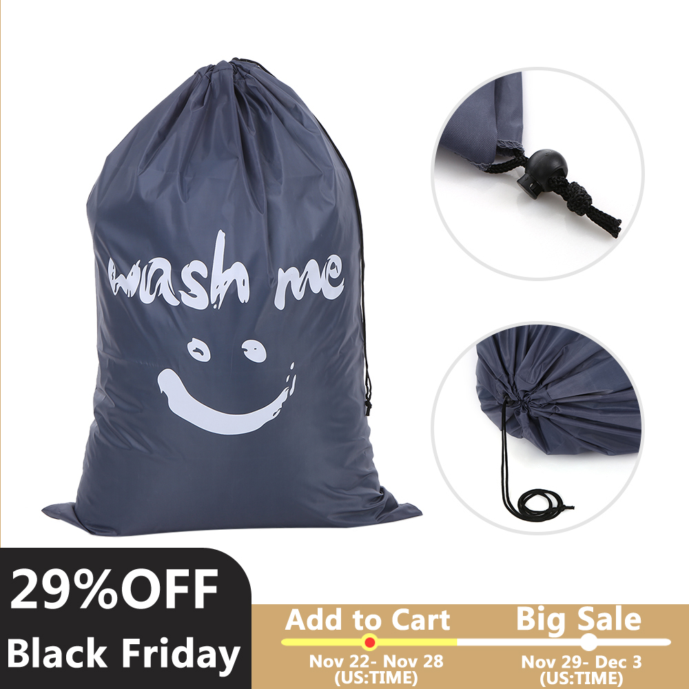 Clothes Shoes Packing Drawstring Bag Multi-functional Nylon Laundry Bag Dirty Clothes Travel Suitcase Underwear Storage Bag