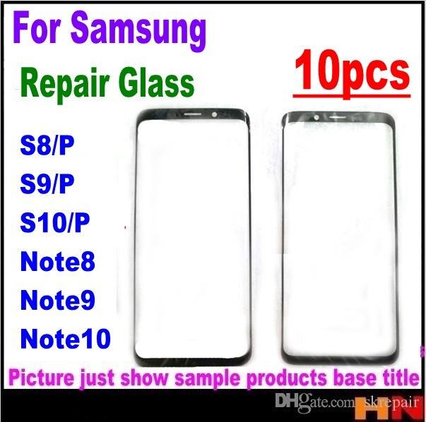 10pcs originele Front Outer Glas Lens Cover voor Samsung S6 S7 rand S8 S9 S10 Plus note 8 9 10 plaat Scherm Cover Vervanging-in Mobiele Telefoon Touch Paneel van Mobiele telefoons & telecommunicatie op AliExpress - 11.11_Dubbel 11Vrijgezellendag 1